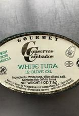 Spain Conservas de Cambados White Tuna in Olive Oil 111g