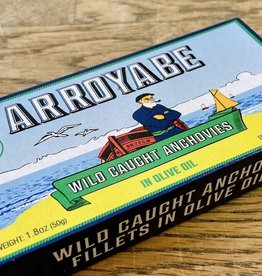 Spain Arroyabe Anchovies in Olive Oil 1.8 oz