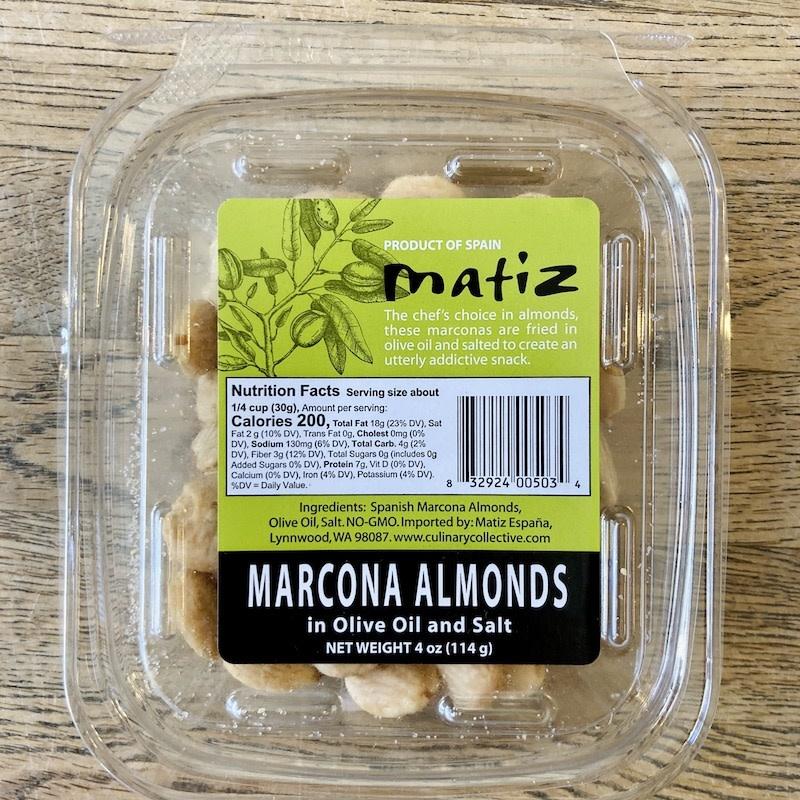 Spain Matiz Marcona Fried Salted Tubs 4oz