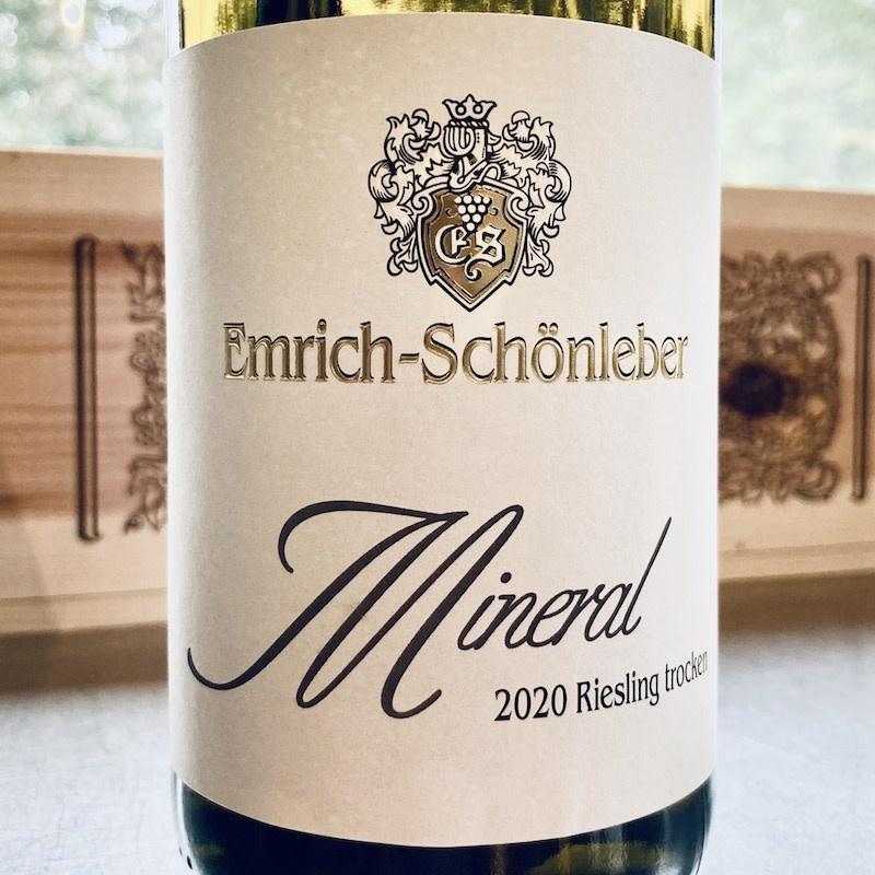 "Germany 2020 Emrich-Schonleber ""Mineral"" Nahe Riesling trocken"
