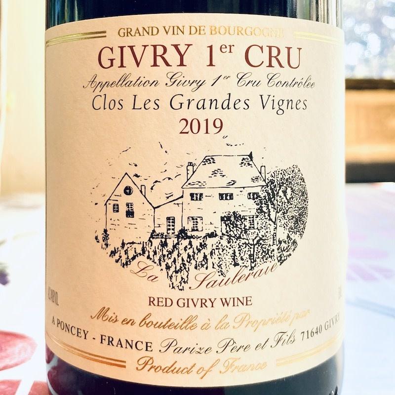 France 2019 Parize Givry 1er Cru Clos Les Grandes Vignes
