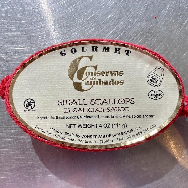 Spain Conservas de Cambados Small Scallops in Galician Sauce 111g