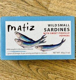 Spain Matiz Wild Small Sardines (Sardinillas) with Sweet Piquillo Peppers 85g