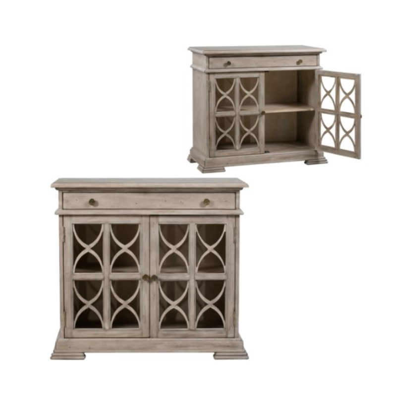 Crestview 1 Drawer 2 Door Fretwork Cabinet