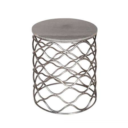 Crestview Solid Iron Accent Table