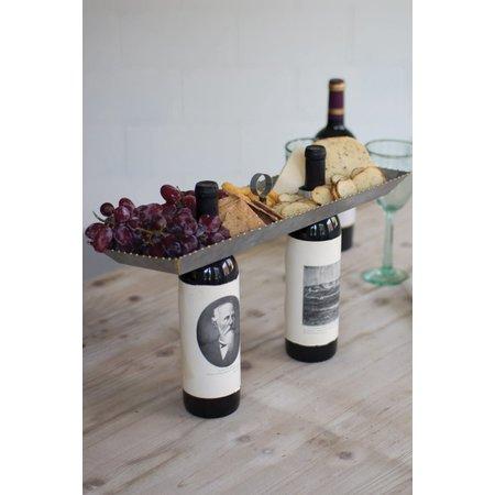 Kalalou Galvanized Double Bottle Serving Topper