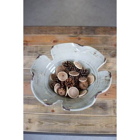 Kalalou Giant Leaf Bowl - Grey