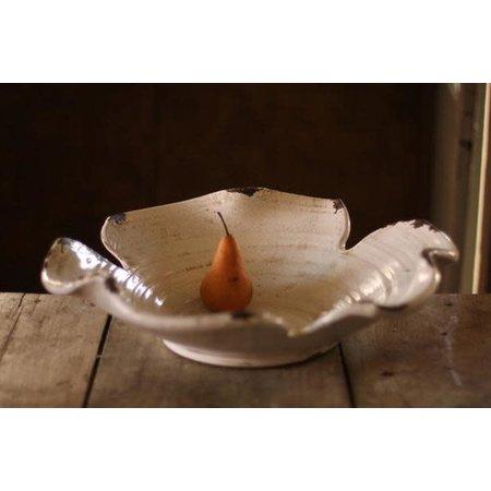 Kalalou Giant White Ceramic Leaf Bowl