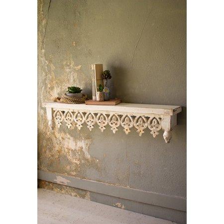 Kalalou Hand Carved Wooden Shelf