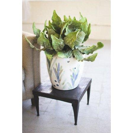Kalalou Hand Painted Ceramic Vase