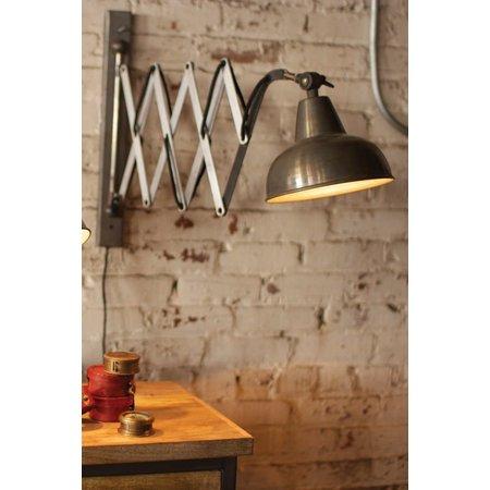 Kalalou Industrial Scissor Wall Lamp
