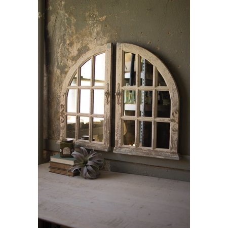 Kalalou Set Of Two Arched Window Mirrors