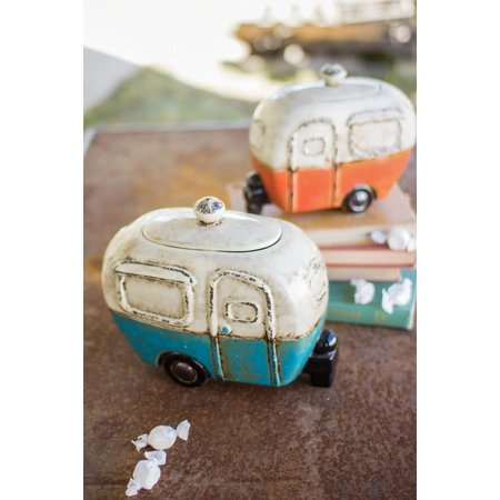 Kalalou Set Of Two Ceramic Camper Canisters