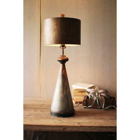 Kalalou Table Lamp With Metal Base And Shade