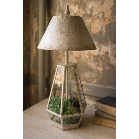 Kalalou Terrarium Lamp With Metal Shade