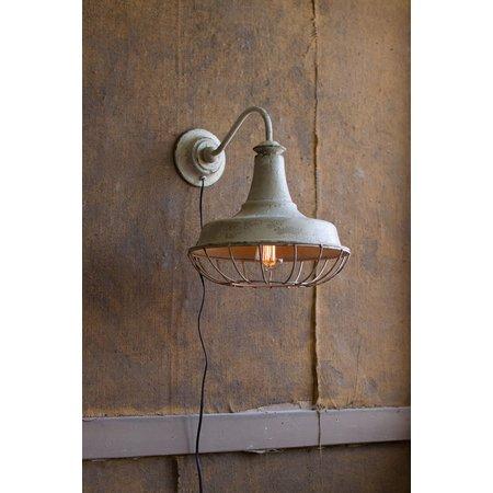 Kalalou Wall Sconce Lamp W/ Cage