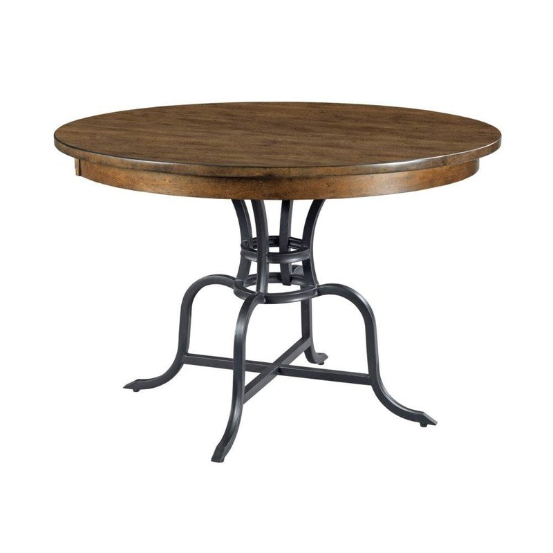 "Kincaid 44"" Round Dining Table With Metal Base"
