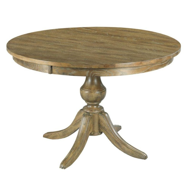 "Kincaid 44"" Round Dining Table With Wood Base"
