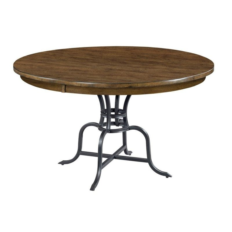 """Kincaid 54"""" Round Dining Table With Metal Base"""