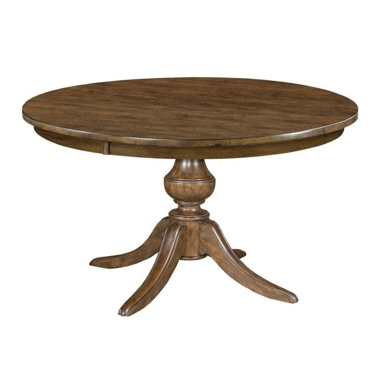 "Kincaid 54"" Round Dining Table With Wood Base"