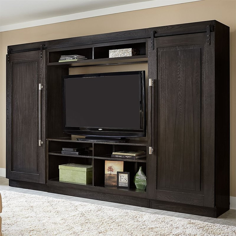 Liberty Abbey Entertainment Center with Piers