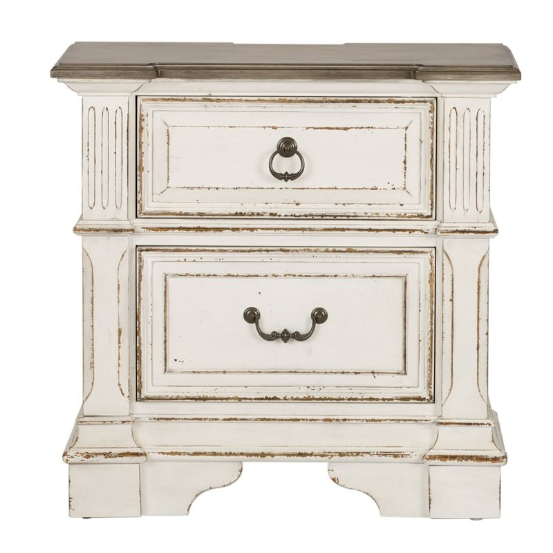 Liberty Abbey Park 2 Drawer Night Stand w/ Charging Station