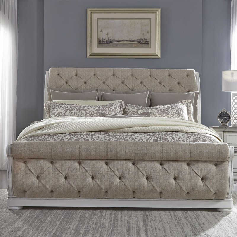 Liberty Abbey Park King Uph Sleigh Bed