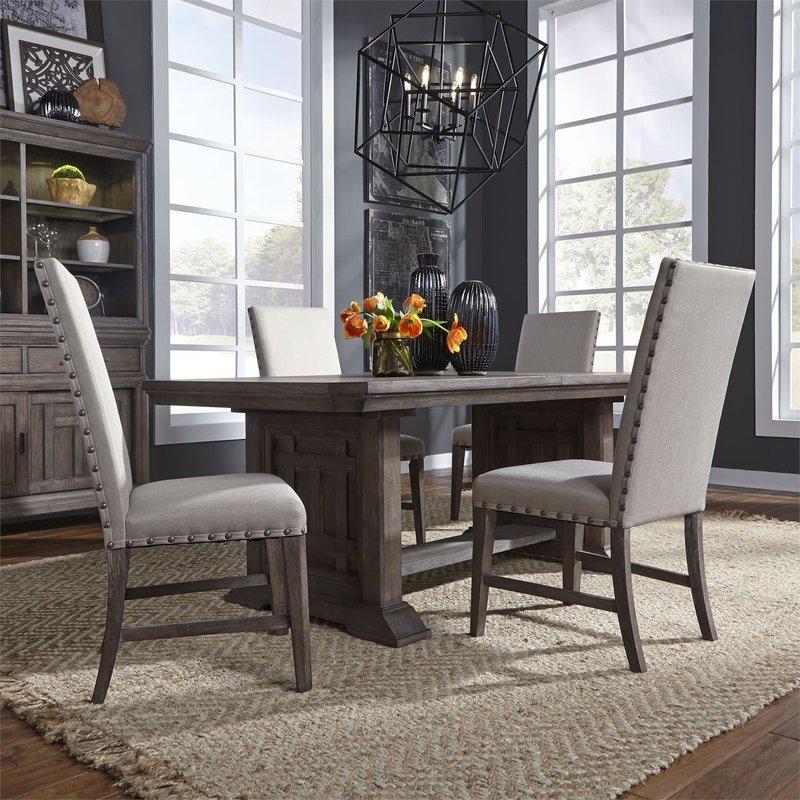 Liberty Artisan Prairie 5 Piece Trestle Table Set
