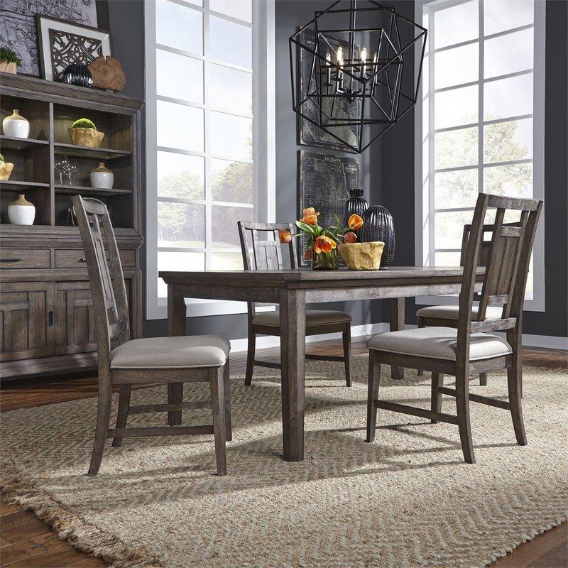 Liberty Artisan Prairie Opt 5 Piece Rectangular Table Set