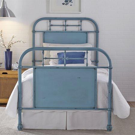Liberty Full Metal Bed - Blue