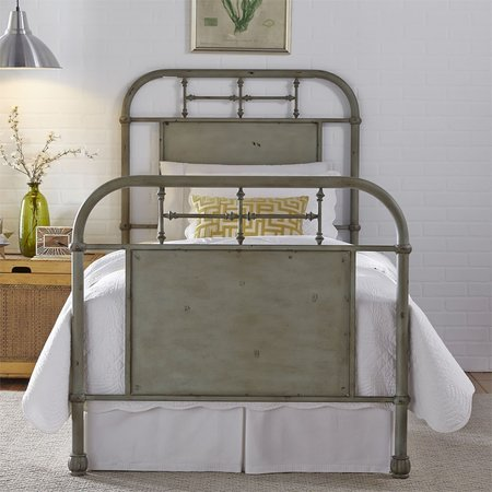 Liberty Full Metal Bed - Green