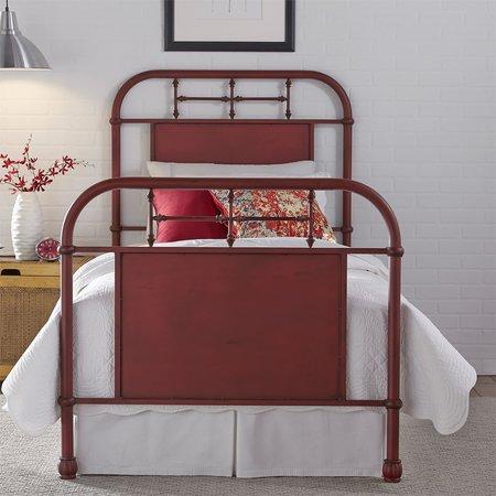 Liberty Full Metal Bed - Red