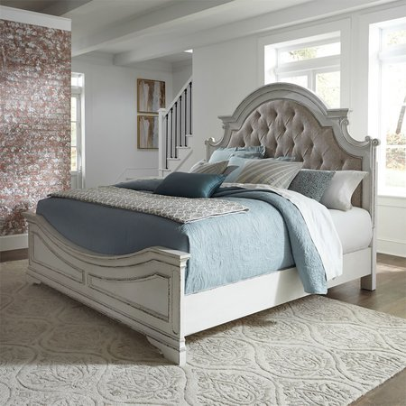 Liberty Magnolia Manor King Upholstered Bed