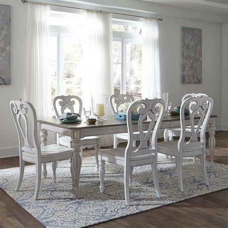 Liberty Magnolia Manor Opt 7 Piece Rectangular Table Set