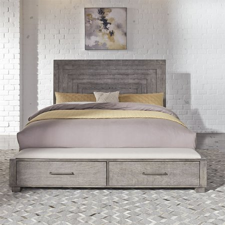 Liberty Modern Farmhouse Queen Storage Bed