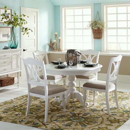 Liberty Summer House I 5 Piece Pedestal Table Set