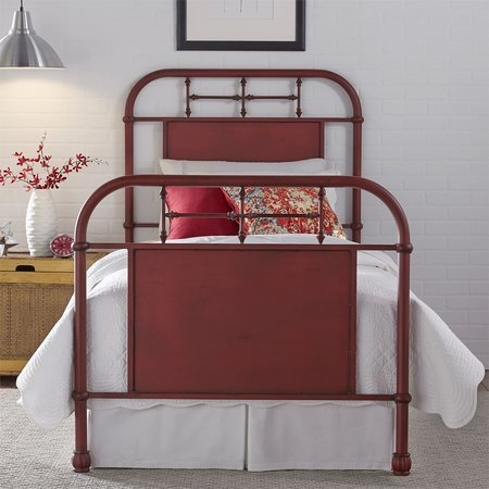 Liberty Twin Metal Bed - Red