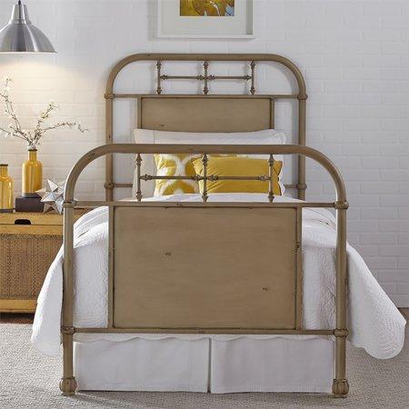 Liberty Twin Metal Bed - Vintage Cream