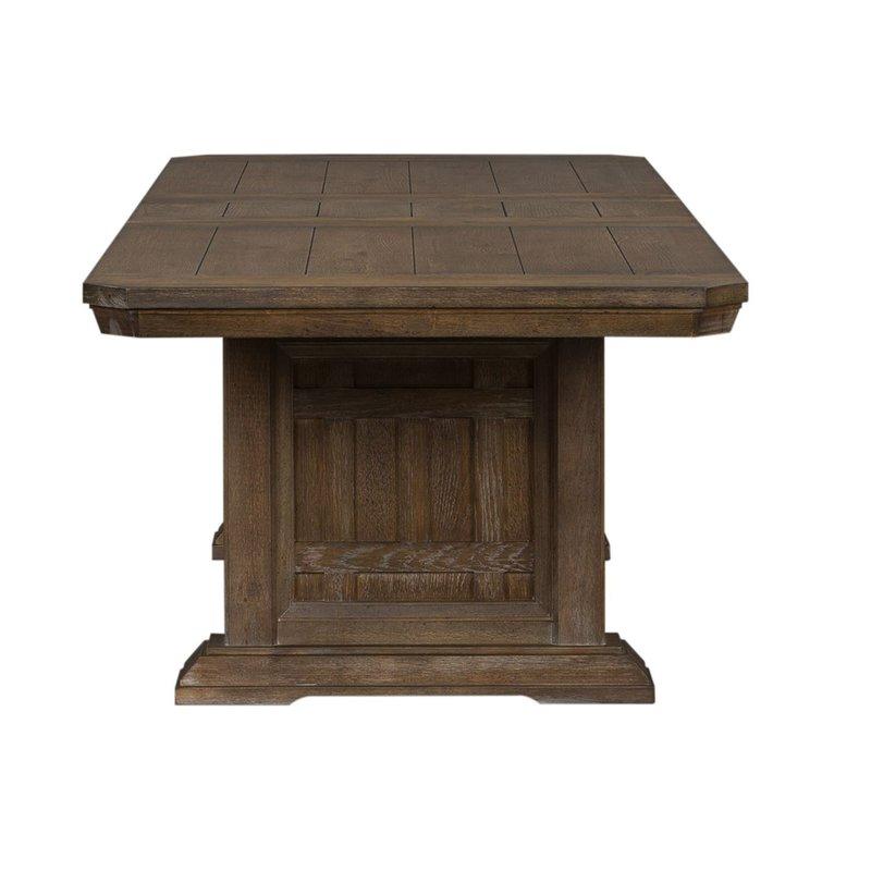 Liberty Artisan Prairie 6 Piece Trestle Table Set