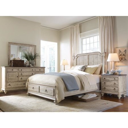 Kincaid Weatherford Cornsilk Westland Queen Bed Complete
