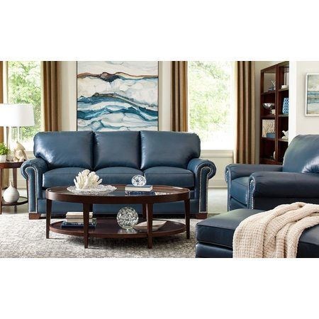 Craftmaster Carver Leather Sofa- without Toss Pillows