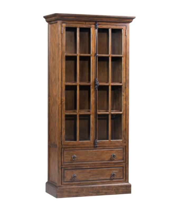 Crestview 2 Drawer 2 Glass Door Curio Cabinet