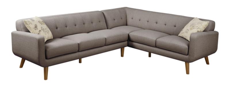 Emerald Home 2-pc Set Sectional Sofa, And Ottoman