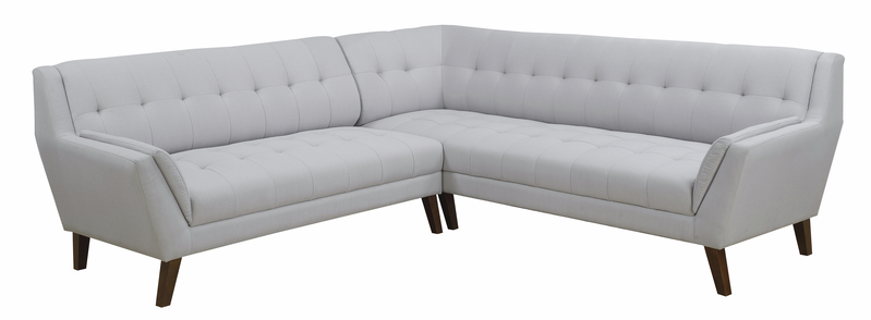 Emerald Home 2pc Sectional-lsf Sofa-rsf Corner Sofa-cement