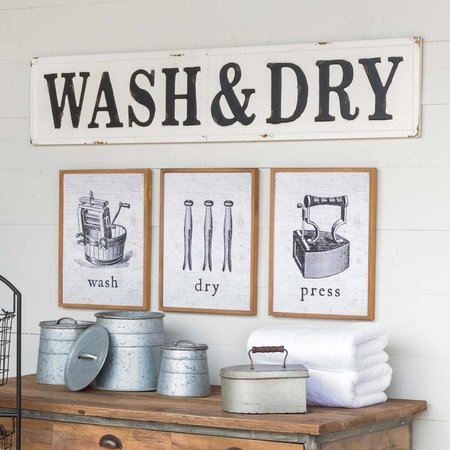Park Hill Furniture Embossed Wash and Dry Sign