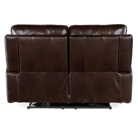 Hooker Furniture Gage Power Recline Loveseat with Power Headrest