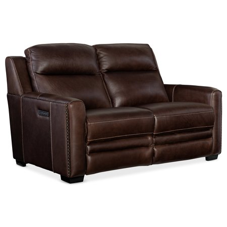 Hooker Furniture Lincoln Power Recline Loveseat w/Power Headrest&Lumbar Rec