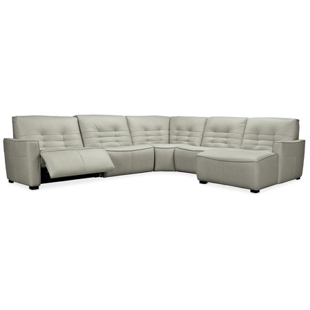 Hooker Furniture Reaux 5-Piece RAF Chaise Sectional w/2 Power Recliners