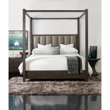 Hooker Furniture Miramar Aventura Jackson Queen Poster Bed w-Tall Posts & Canopy