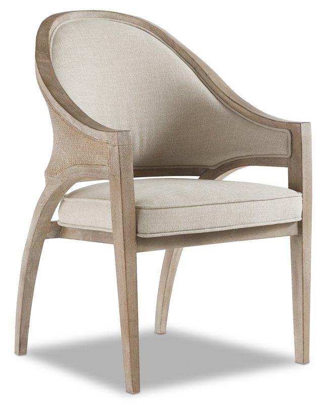 Hooker Furniture Affinity Sling Back Chair - Raffia Back